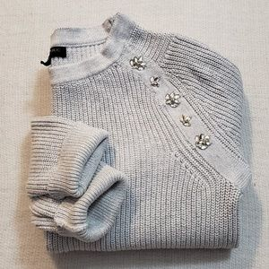 Banana Republic gray knit sweater size S